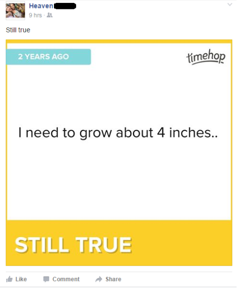growing 4 inches