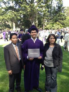 My parents and I at my SFSU graduation